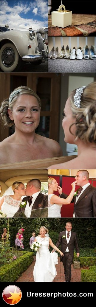 montage of wedding images from wedding shoot in dartford and swanley kent