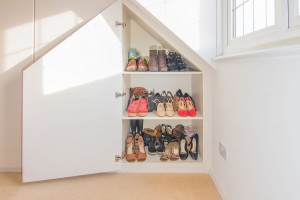 Home interior photography - room for shoes